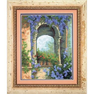 """Набор для вышивки крестом Чарівна Мить 457 """"Цветочная арка"""""""