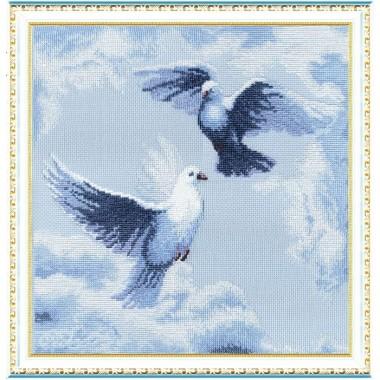 "Набор для вышивки крестом Чарівна Мить 302 ""Голуби"""