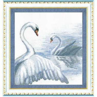 "Набор для вышивки крестом Чарівна Мить 294 ""Лебеди"""