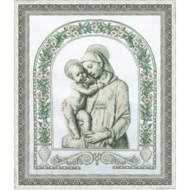 """Набор для вышивки крестом Чарівна Мить 405 """"Мадонна с ребёнком"""""""