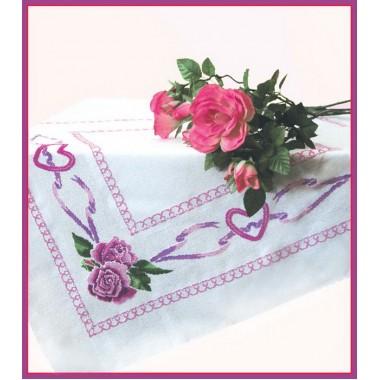 """Набор для вышивки крестом Чарівна Мить СК-14 """"Скатерть с розами"""""""