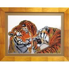 """Набор для вышивки крестом Чарівна Мить 550 """"Тигры"""""""