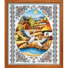 "Набор для вышивки крестом Чарівна Мить ВТ-011 ""На заливных лугах"""