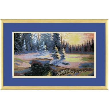 """Набор для вышивки крестом Чарівна Мить 529 """"Зимний пейзаж"""""""