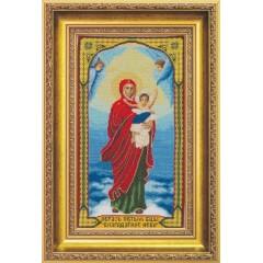 """Набор для вышивки крестом Чарівна Мить А-113 """"Образ Пресвятой Богородицы Благодатное Небо"""""""