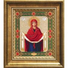 """Набор для вышивки бисером Чарівна Мить Б-1128 """"Икона Покров Пресвятой Богородицы"""""""