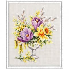 Набор для вышивки крестом Чудесная игла 100-002 Весенний букетик