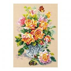 Набор для вышивки крестом Чудесная игла 100-021 Чайные розы