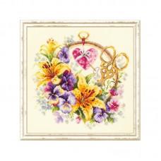 Набор для вышивки крестом Чудесная игла 100-121 Лилии для рукодельницы