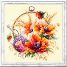 Набор для вышивки крестом Чудесная игла 100-123 Маки для искусницы