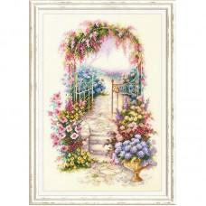 Набор для вышивки крестом Чудесная игла 110-001 Садовая калитка