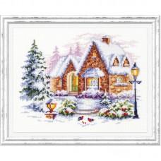 Набор для вышивки крестом Чудесная игла 110-041 Зимний домик