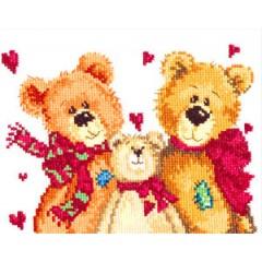 """Набор для вышивки Чудесная игла 17-06 """"Три медведя"""""""