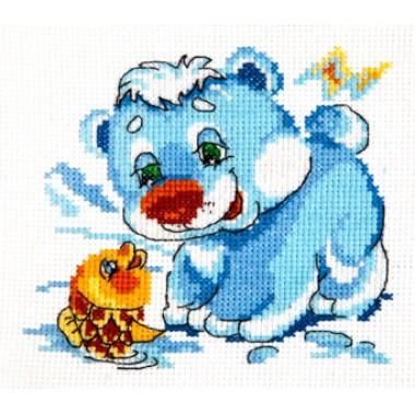 """Набор для вышивки Чудесная игла 17-14 """"Белый медвежонок"""""""