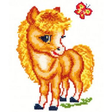 """Набор для вышивки Чудесная игла 18-02 """"Веселая лошадка"""""""
