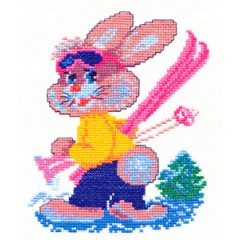 """Набор для вышивки Чудесная игла 18-04 """"Зайка-лыжник"""""""