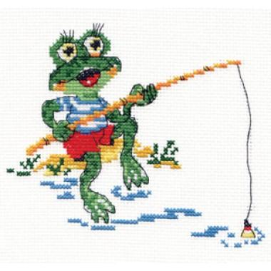 """Набор для вышивки Чудесная игла 18-32 """"Лягушонок-рыбак"""""""