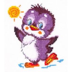 """Набор для вышивки Чудесная игла 18-49 """"Крошка пингвиненок"""""""