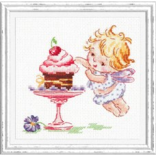 Набор для вышивки крестом Чудесная игла 35-22 Люблю сладенькое