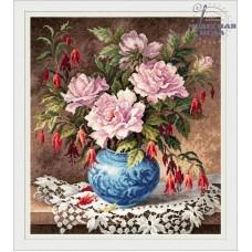 Набор для вышивания Чудесная игла 40-75 Розы и фуксии