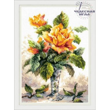 Набор для вышивания Чудесная игла 40-79 Желтые розы