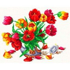 """Набор для вышивки Чудесная игла 40-30 """"Букет из тюльпанов"""""""
