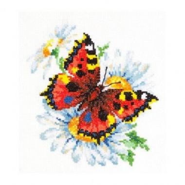 Набор для вышивки крестом Чудесная игла 42-11 Бабочка и ромашки