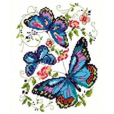 """Набор для вышивки Чудесная игла 42-03 """"Синие бабочки"""""""