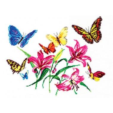 """Набор для вышивки Чудесная игла 42-05 """"Лилии и бабочки"""""""