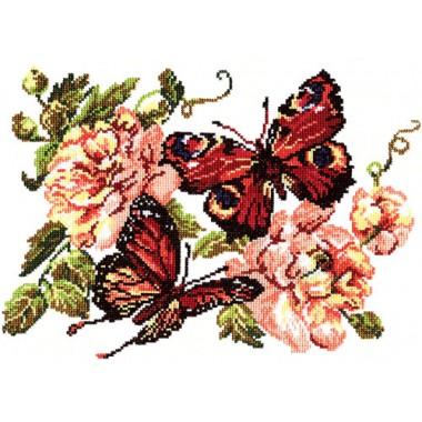 """Набор для вышивки Чудесная игла 42-06 """"Пионы и бабочки"""""""