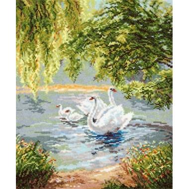 """Набор для вышивки Чудесная игла 44-02 """"Лебеди"""""""