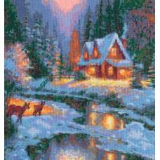 """Набор для вышивки крестом Чудесная игла 45-01 """"Зимняя сказка"""""""