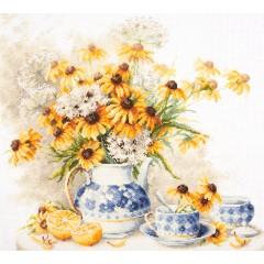 """Набор для вышивки Чудесная игла 50-08 """"Цветочный чай"""""""