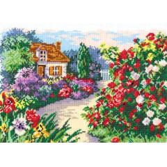 """Набор для вышивки крестом Чудесная игла 52-03 """"Цветущий сад"""""""