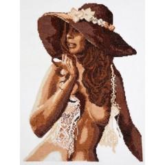 """Набор для вышивки Чудесная игла 68-03 """"Девушка в шляпе"""""""