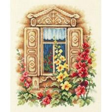 Набор для вышивки крестом Чудесная игла 74-02 Милое окошко