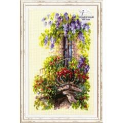 Набор для вышивки крестом Чудесная игла 74-05 Балкон возлюбленной