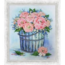 Набор для вышивки Золотое Руно РТ-166 Розы в ведерке