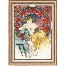 Набор для вышивания крестом Риолис 100/058 Девушка с мольбертом