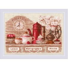 Набор для вышивания крестом Риолис 1874 Coffee Time