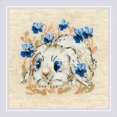 Набор для вышивания крестом Риолис 1877 Маленький зайка