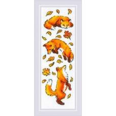 Набор для вышивания крестом Риолис 1879 Лисы в листве