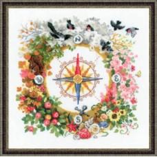 Набор для вышивания крестом Риолис 1881 Компас