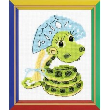 Набор для вышивания крестом Риолис НВ-125 Новогодняя змейка