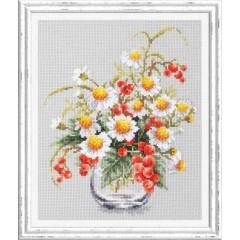 Набор для вышивки крестом Чудесная игла 100-012 Ромашки и смородина