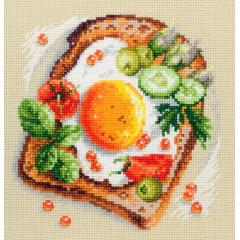 Набор для вышивки крестом Чудесная игла 120-092 Тост с яичницей