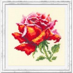 Набор для вышивки крестом Чудесная игла 150-003 Красная роза