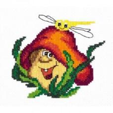 Набор для вышивки крестом Чудесная игла 26-20 Весёлый грибочек