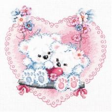 Набор для вышивки крестом Чудесная игла 80-06 Счастливая любовь!