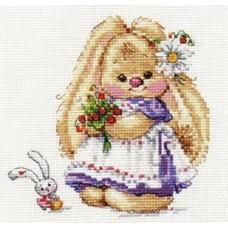 Набор для вышивки Алиса 0-179 Зайка Ми. Земляника